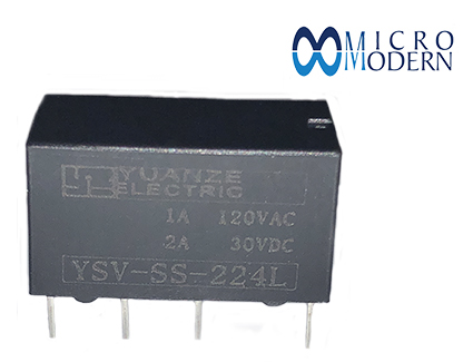 Relay YSV-SS-224L 24V 1A Silver Plate