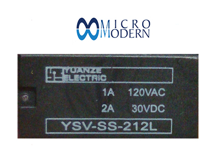 Relay YSV-SS-212L 12V 1A Silver Plate